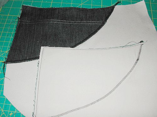 Before completing the pocket bag construction, I fused a strip of