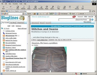 Stitches and Seams: September 2006