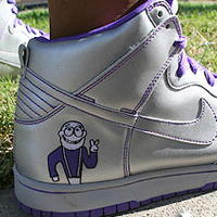 Dinosaur Jr. Nikes as pictured at Stereogum.com