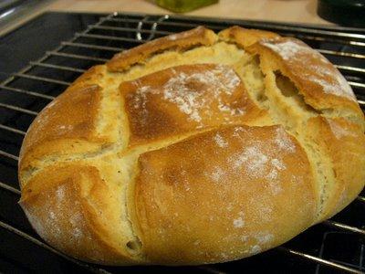 pan de masa madre y harinas de trigo y escanda integral