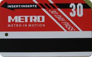 30-day METRO pass