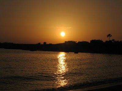 Puesta de sol en Coral Beach