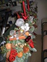 Adventsgesteck mit Tanne, Kiefer,Ilex, Eiche 2