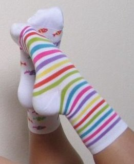 Sexy teen girl in odd socks