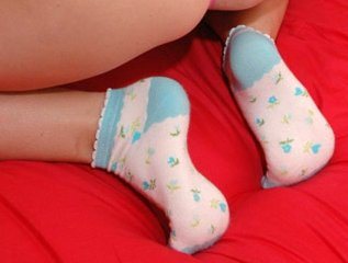 girl in cute little socks