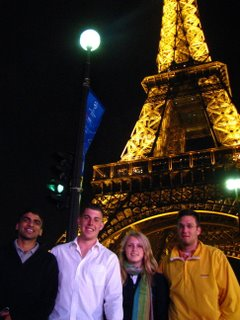 Shashanka and others at the Eiffel tower