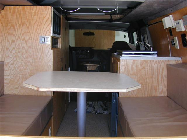 Van Is Garageable Conversion Particulars Layout Similar To RB 12 Sportsmobile Penthouse Top Oak Wall Paneling Styro Foam Insulation