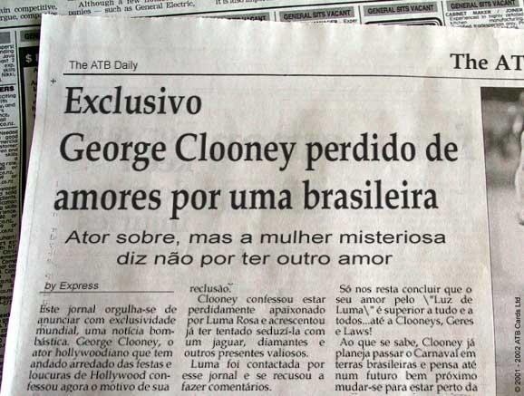 George Clooney apaixonado por brasileira