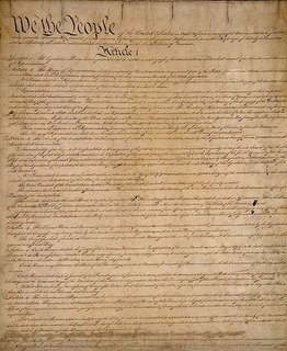 Remember this little piece of paper. Yeah, it's the Constitution. Read it.