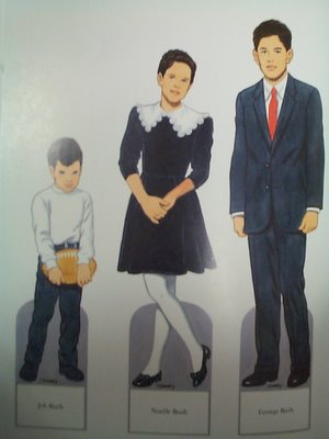 Bush kids paper dolls