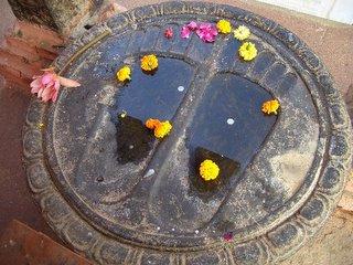 Bodhgaya: Buddha Footprint