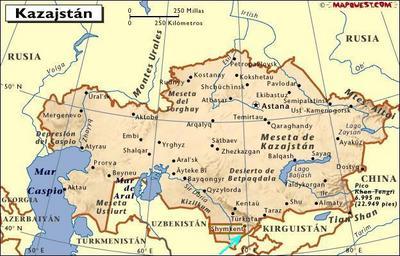 Kazajstán: Shymkent está abajo