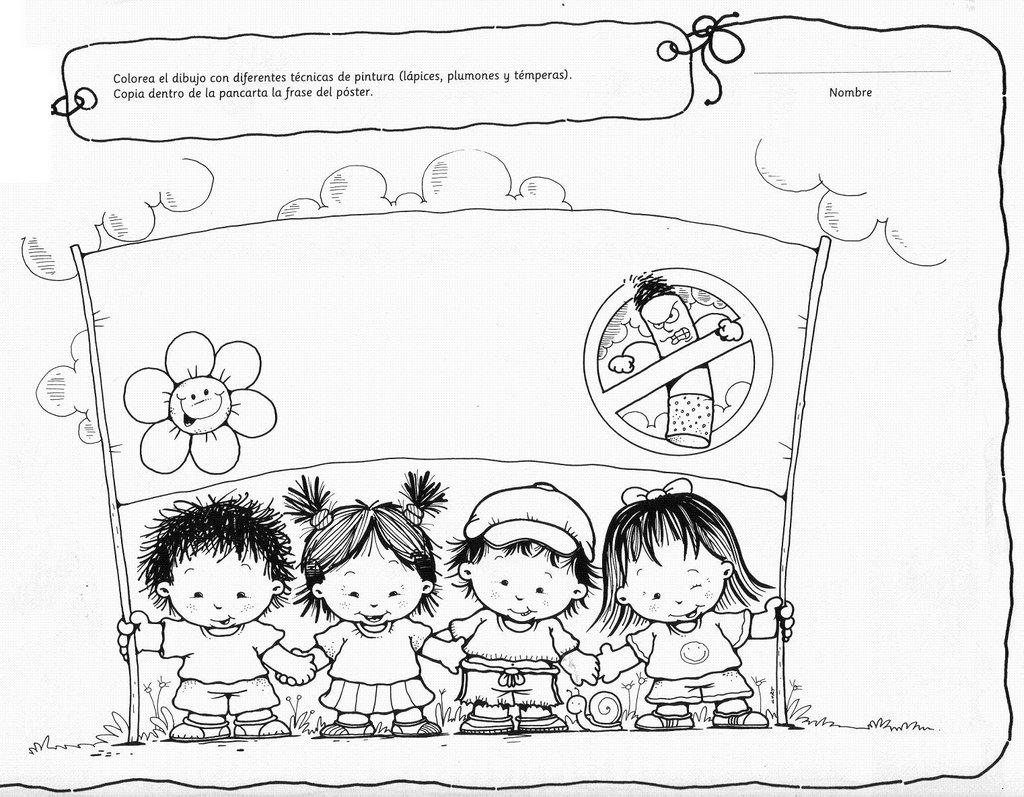 Dibujo De Actividades Para Pre Escolar