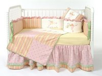 Ballerina Butterfly Crib Bedding - Girl