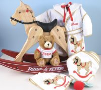 Deluxe Rocking Horse Gift Set with Personalization