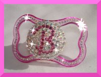 Initial Baby Pacifier with Swarovski© Crystals - Girl