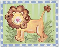 Leopold the Lion Canvas Wall Art