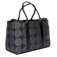 Large Charcoal Dots Diaper Tote by OiOi