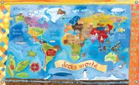 Our World Canvas Mural Banner - Personalized