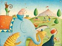 Circus Parade Canvas Mural Banner