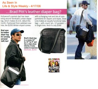 Storksak Unisex Jamie Diaper Bag - Brad Pitt's Choice!