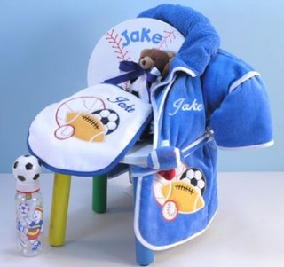 Baby Sports Jock Personalized Chair Gift Set