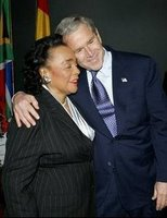 White House photo by Eric Draper: Coretta Scott King and President George W. Bush