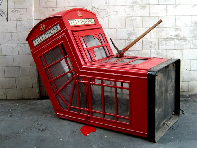 Banksy Phone Box