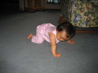 Crawling across the floor