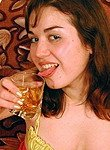 woman tasting pee