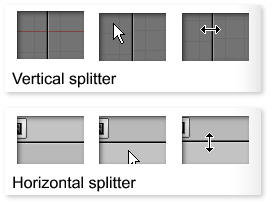 Blender window splitters