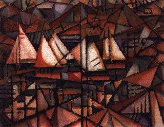 (Amadeo de Souza-Cardoso, Barcos, 1913, óleo sobre tela)