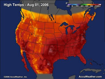 High Temperatures, 1 August 2006