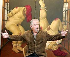 Botero in front of his canvas
