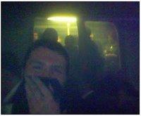 Imagen capturada desde el propio vagón de metro con un teléfono móvil y publicado en numerosos medios
