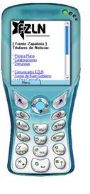 celular navegando en wap con noticias frzn