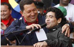 Chaves y Maradona en la contracumbre