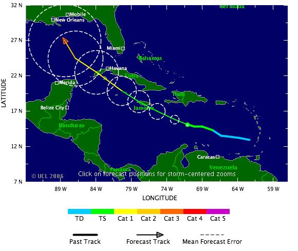 Gulf Coast Hurricane Tracker: August 2006