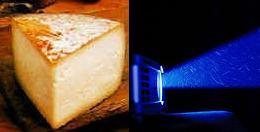 Está claro, ¿no? Un derivado lacteo y un proyector eléctrico de luz.