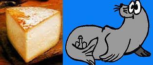 Derivado lácteo + un macho de cierta especie de mamíferos marinos