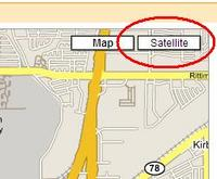 Google Maps Satellite Button