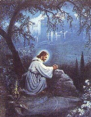 In between april 2006 Jesus praying in the garden of gethsemane
