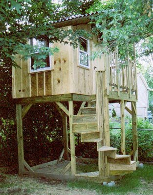 kidsafeplayhouses a treehouse without the tree