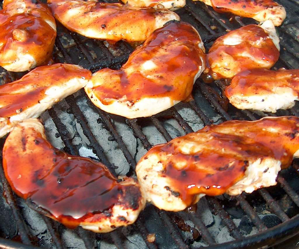 Boneless breast bbq chicken