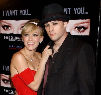 Hilary Duff With Joel Madden