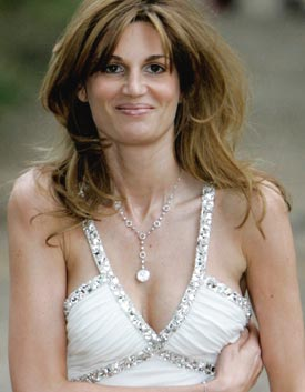 Jemima is bursting out of her bra!