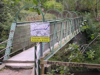 Footbridge from the Trans Pennine Trail