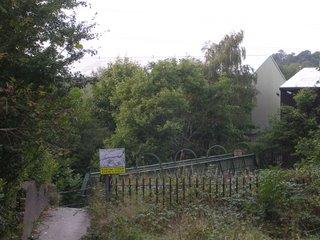 View of footbridge from Gorsey Bank
