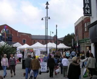 New market stalls on Merseyway