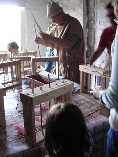a practical class in wattle and daub for adults and children